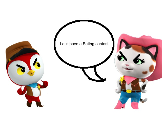 Callie And Peck's Eating Contest Page 1 By Pickm On DeviantArt