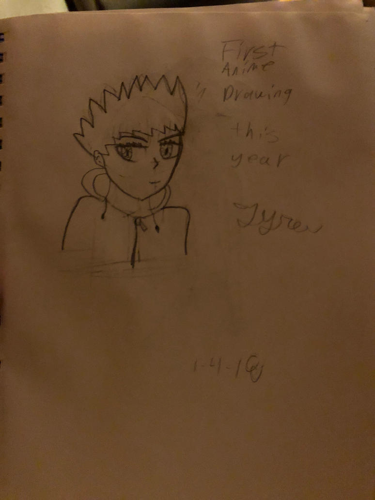First anime drawing  by microkirby