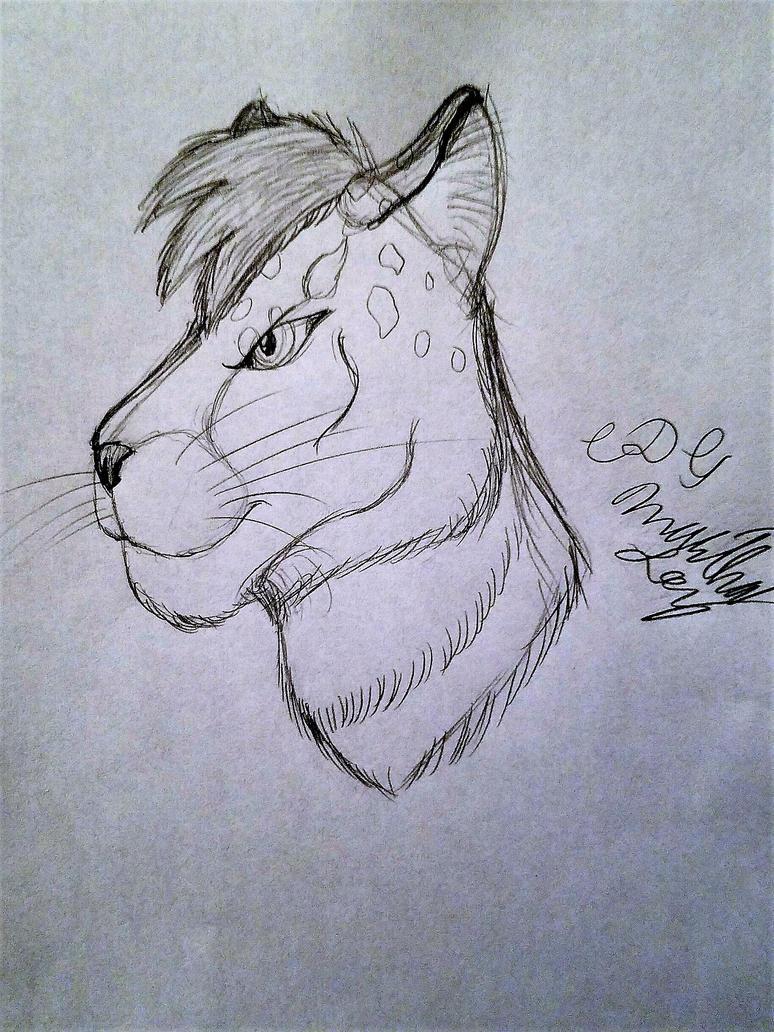 Xenitar Head Sketch by Cookiedough-Gecko