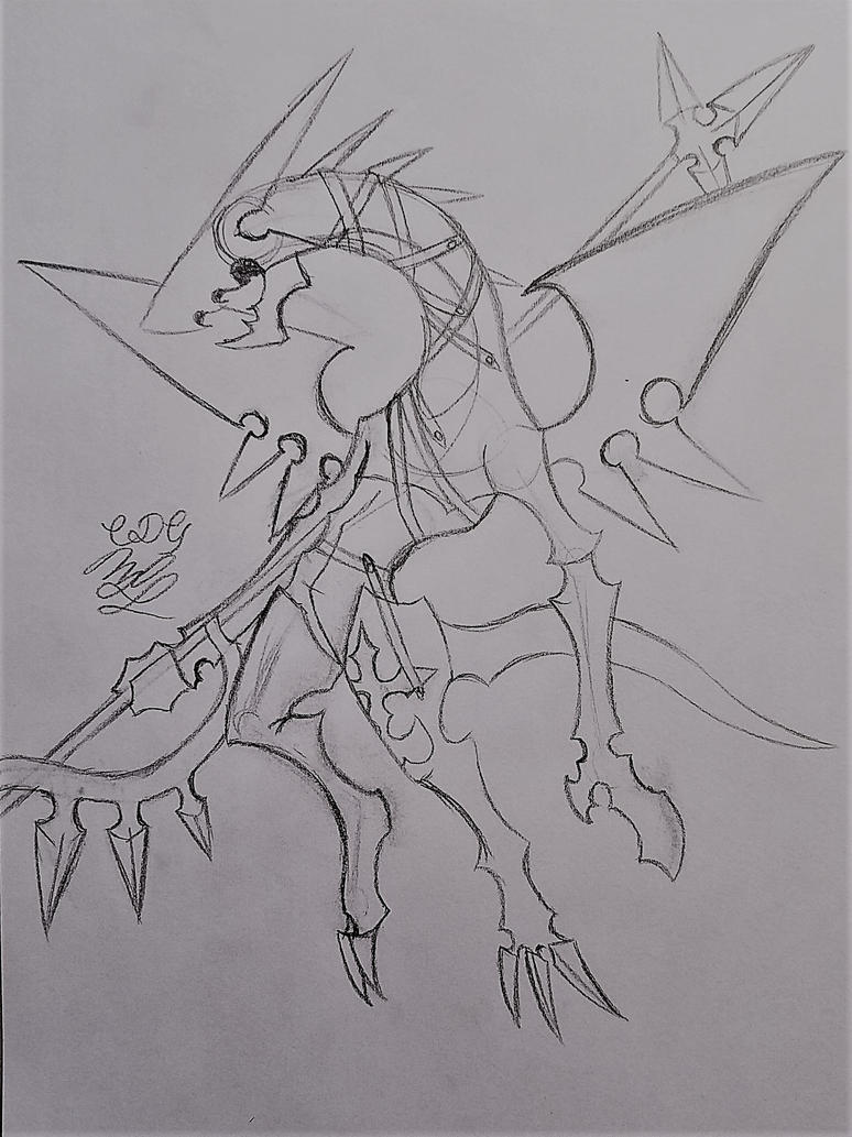 KH Dragoon Drawing by Cookiedough-Gecko