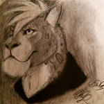 Xenitar Charcoal Drawing by Cookiedough-Gecko