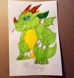 Notepad Doodle: Dragon by Cookiedough-Gecko