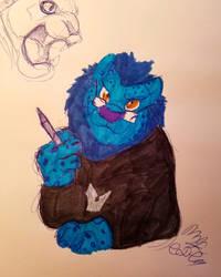 Fursona Sketch by Cookiedough-Gecko