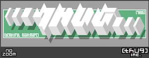 Thug White Block ASCII-2-Pixel