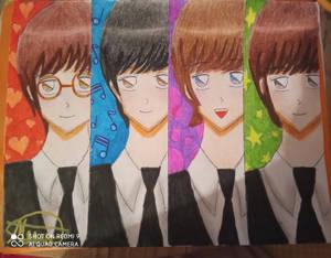 The Beatles anime version