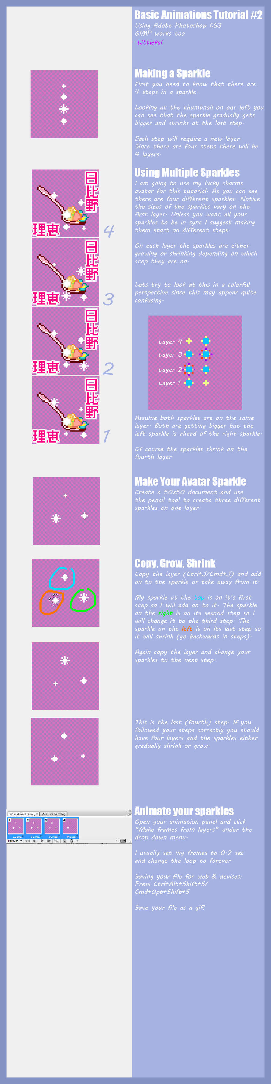 Pixel Artsparkle Tutorial By Littlekai