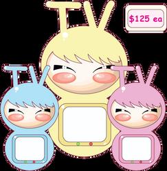 Chibni Tvs by LittleKai