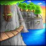 Minecraft cliff