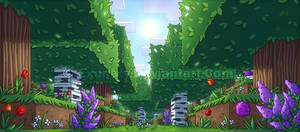 Minecraft Flower Forest by Exunary