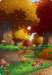 Minecraft Autumn Forest by Exunary