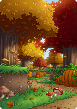 Minecraft Autumn Forest