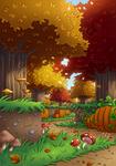 Minecraft Autumn Forest