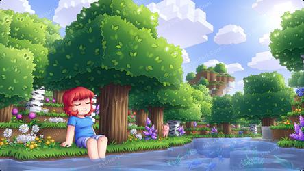 A warm day in Minecraft