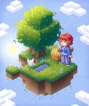 Isometric Minecraft Island