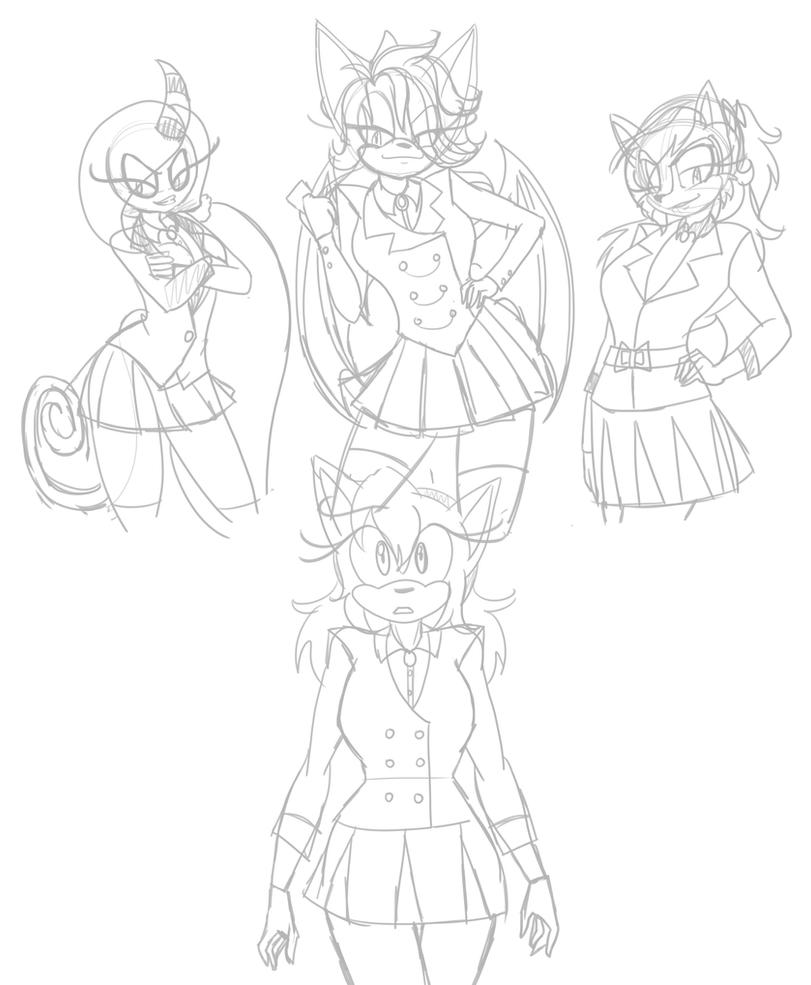 Heathers Sonic AU WIP By AsiaTheAnimator On DeviantArt