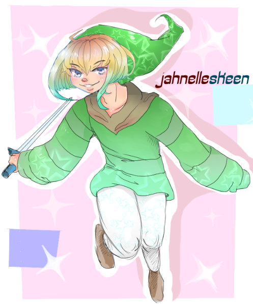 Starry Link ! by jahnellethekeyblade