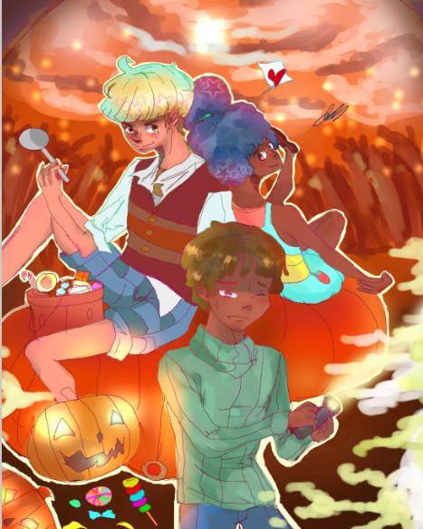 Halloween(oc's) by jahnellethekeyblade