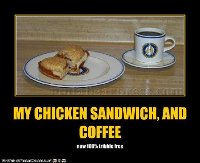 My chicken sandwich, and coffee by master-ninjabear on DeviantArt