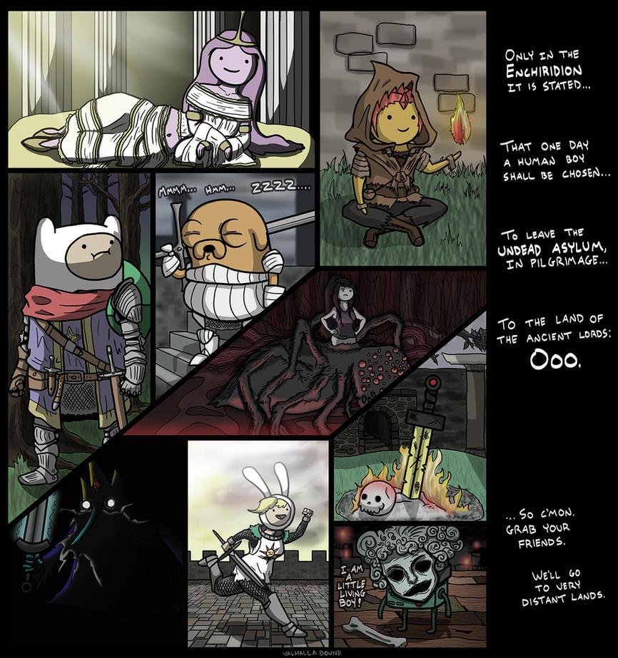 [ThePruld] Dark Souls food chain - Adventure time song ... |Dank Souls Adventure Time
