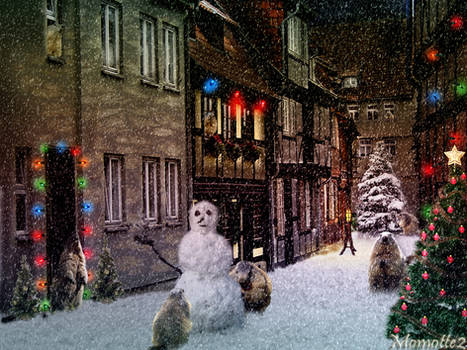 Christmas village for marmots
