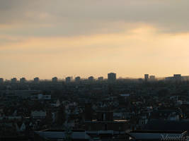 Surreal sunset on Amsterdam by Momotte2