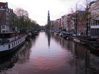 Purple reflect on Prinsengracht by Momotte2