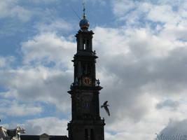 Westerkerk in the clouds