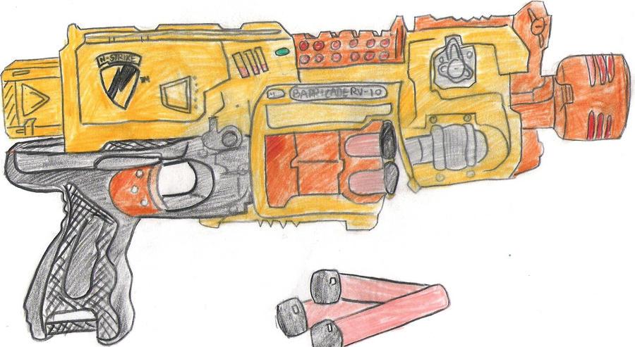 nerf gun by Tazebama