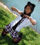 punk neko school girl
