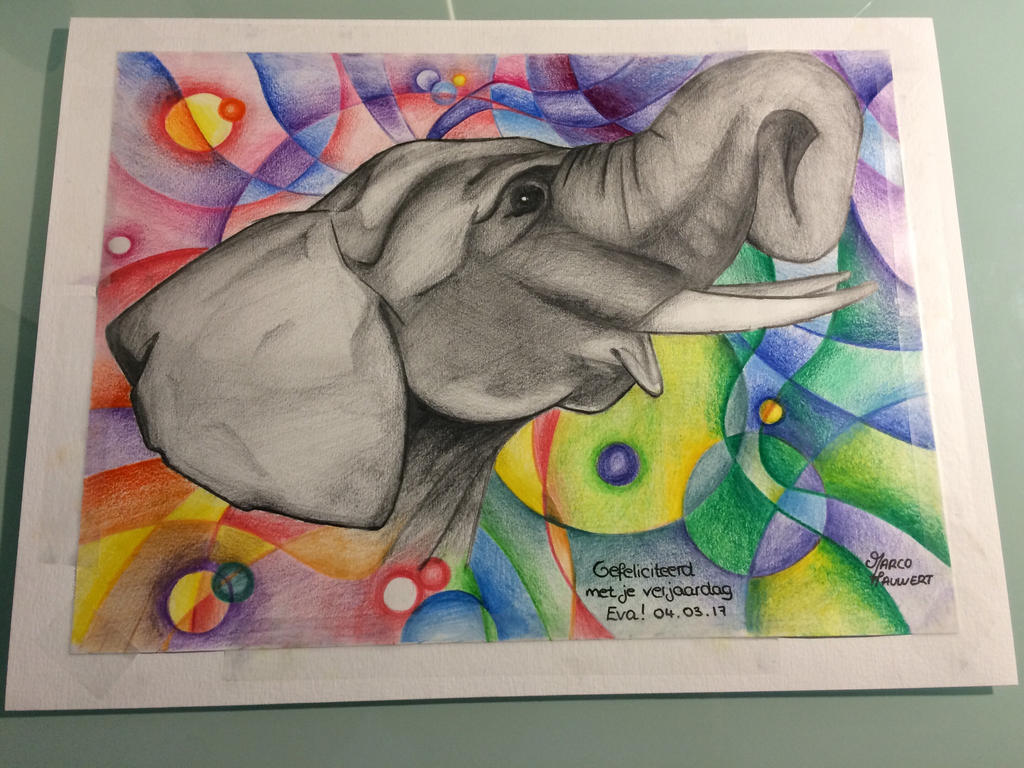 An elephant (part 2)  by MarcoHauwert