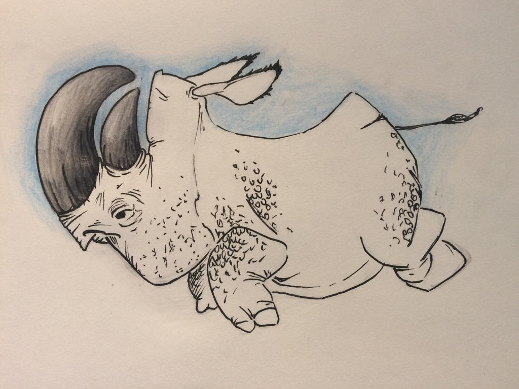 Rhinoceros sketch by MarcoHauwert