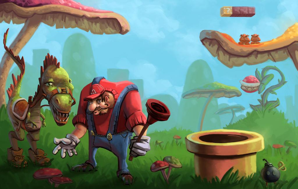 Realistic Yoshi Realistic Mario And Yo...