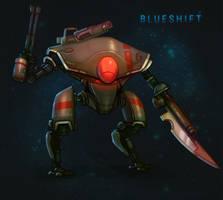 BLUESHIFT: Android Tribunal Mech by antonio-panderas