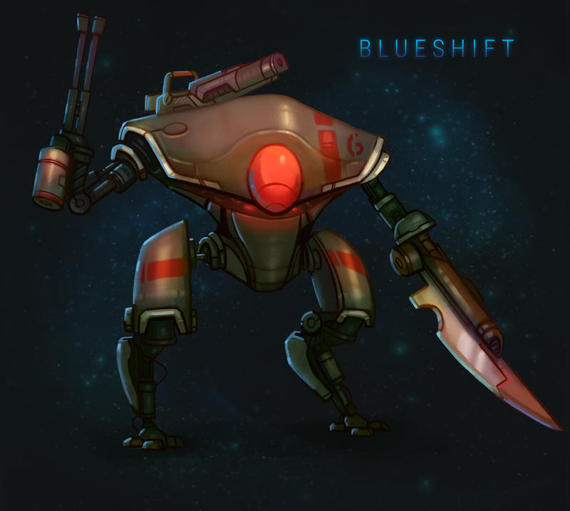 BLUESHIFT: Android Tribunal Mech by antonio-panderas