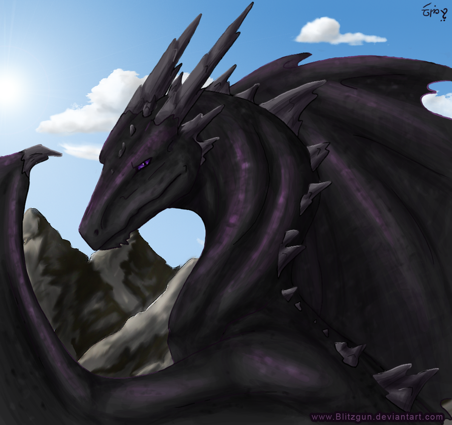 Digi-Paint Practise: Dragon by blitzgun