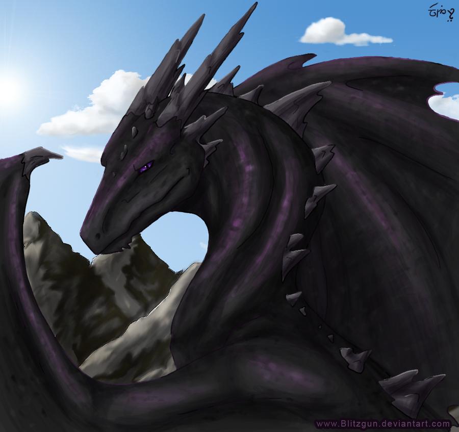 Digi-Paint Practise: Dragon by blitzgun