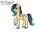 Sea Singer MLP OC by CloudDoodle