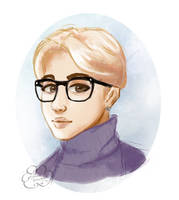 Chim In Glasses by CloudDoodle