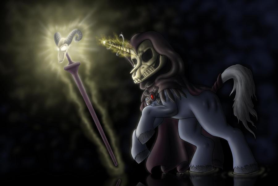 Skeletor Pony by AnaduKune