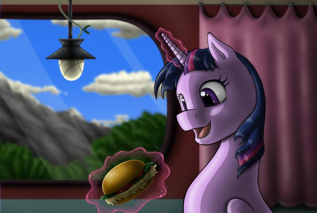 Twilight Burger Time by AnaduKune
