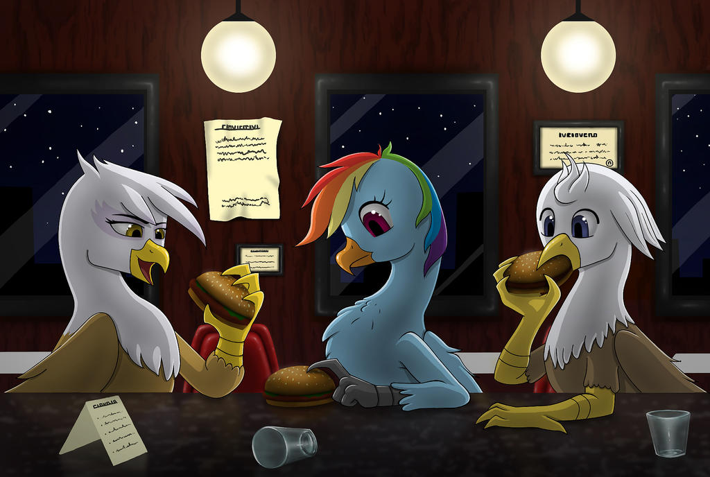 Burgers in the Night by AnaduKune