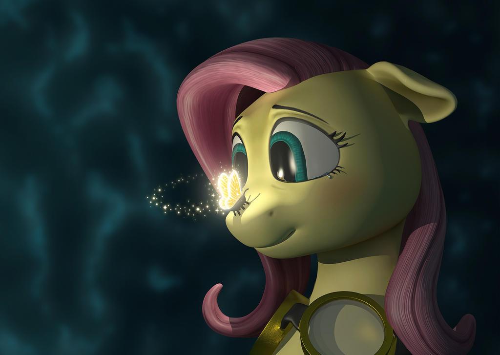 Fluttershy's Spirit 3D by AnaduKune