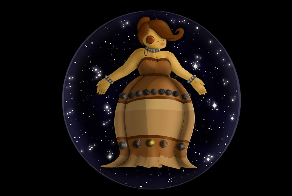 Planet Girl Jupiter by AnaduKune
