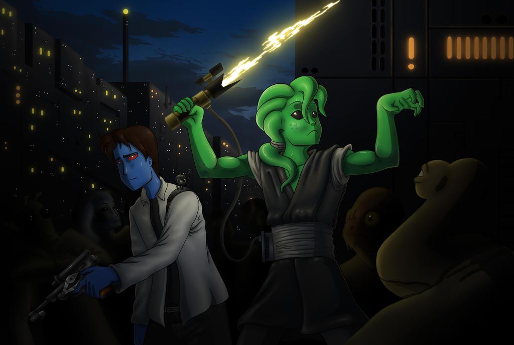 Star Wars Frey and Utan by AnaduKune