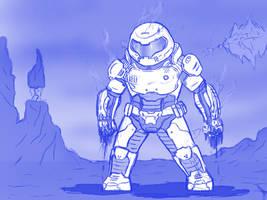 Doom Slayer by AnaduKune