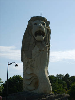 The Merlion-Happy B'day S'Pore