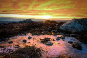 Sunrise over Simonside by monotone2k