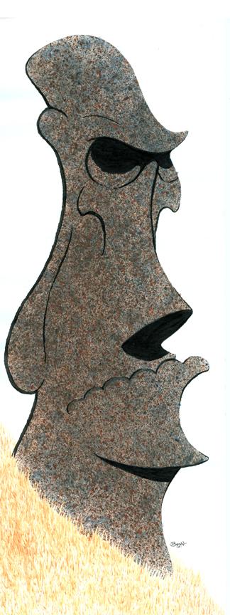 Zombie Moai by JonBeanHastings