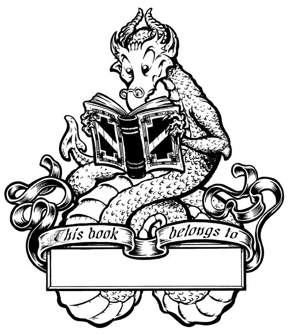 Ex Libris Dragon by JonBeanHastings