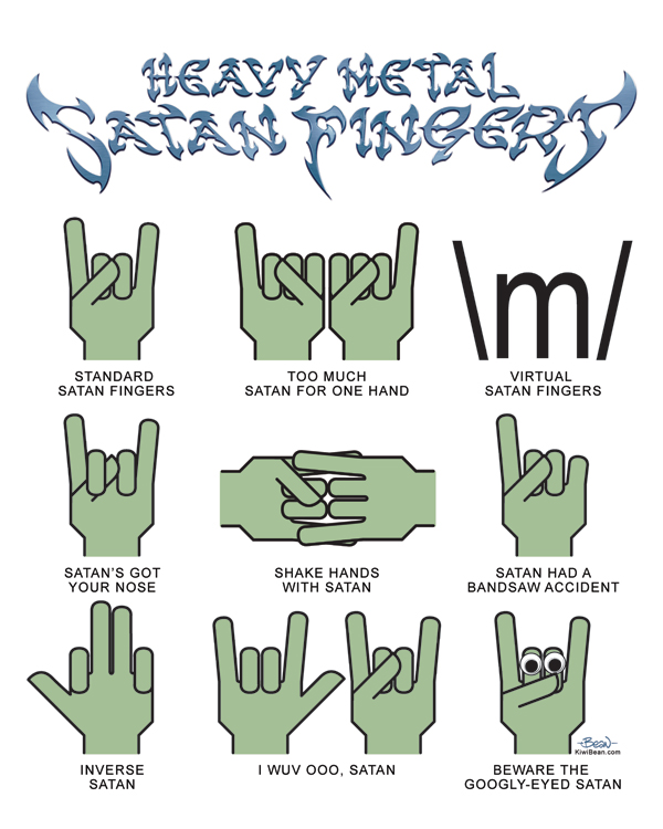 Heavy Metal Satan Fingers By Jonbeanhastings On Deviantart